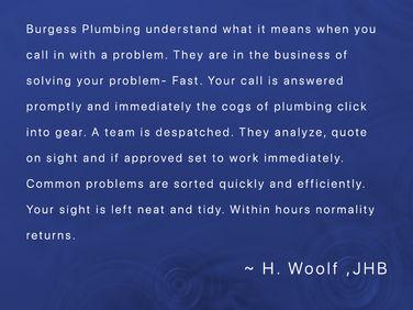 Woolf Testimonial