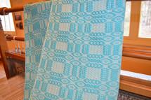 Some of Cheri's weaving work
