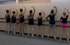 Pointe class with Ms. Cheri