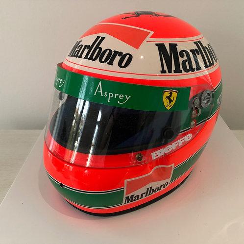 Race used helmet - Eddie Irvine - Signed - Ferrari F1