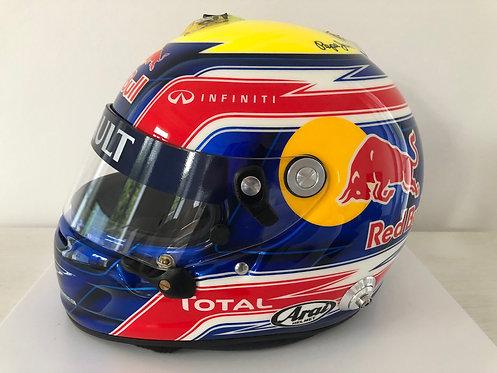 Helmet Replica Media - Mark Webber - Red Bull F1 2011 - Arai GP6 - by JMD