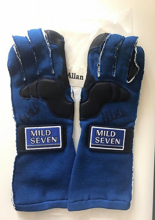 Gloves used 2003 Allan McNish Mild Seven Renault F1 Team Signed