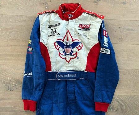 Race suit used -,Sebastien Bourdais - Signed - Dale Coyne Racing 2011 - IndyCar