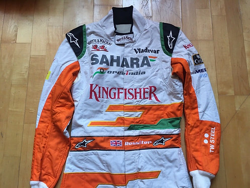 Original Suit Testing + Shoes - James Rossiter - Force India F1