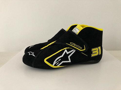 Race Shoes used - Esteban Ocon - Renault F1 2020 - Alpinestars