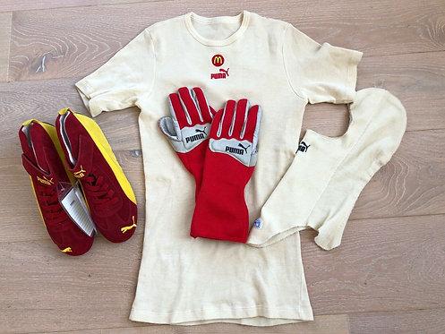 Lot Race Shoes / Gloves / Balaclava / Nomex Sébastien Bourdais Indy Newman Haas