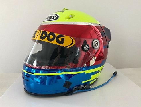 Helmet race used : Michael Krumm - Indy Car - CART - 2001 - Arai GP4