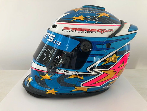 Helmet Race Testing Indy Car - Alex Tagliani - Player's Forsythe 2001 - Signed