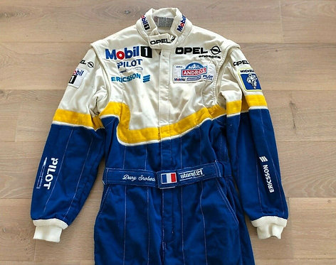 Race used suit - Dany Snobeck Opel Trophée Andros 1999
