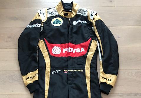 Suit race Promo - Pastor Maldonado - Lotus F1 - 2015 - Alpinestars