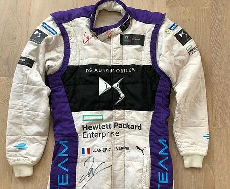 Original Suit Used - Jean Eric Vergne - Signed - DS Virgin FE