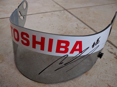 Original Visor Used - Mike Conway - Signed