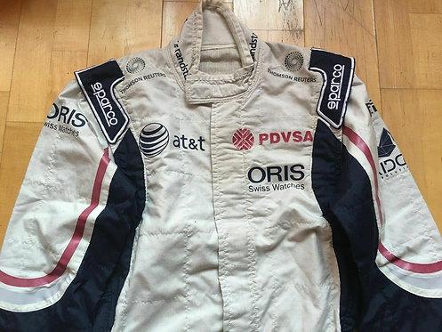 Wiliams F1 2011 Original Suit Race Used : P  Maldonado