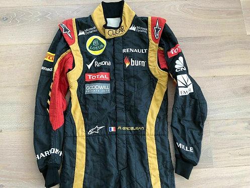 Original Suit Race Used - Romain Grosjean - Lotus Renault 2013