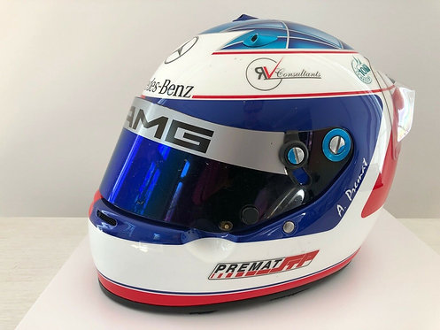 Race used helmet Arai 2003 Alex Prémat F3 Euroseries ASM Mercedes Signed