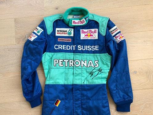 Original Suit Race Used - Nick Heidfeld - Sauber F1 2001 - Signed