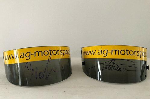 Set - Visor Race used - Andrea & Giacomo Piccini - signed