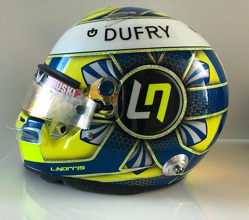 Helmet race used - Lando Norris - Mclaren 2019