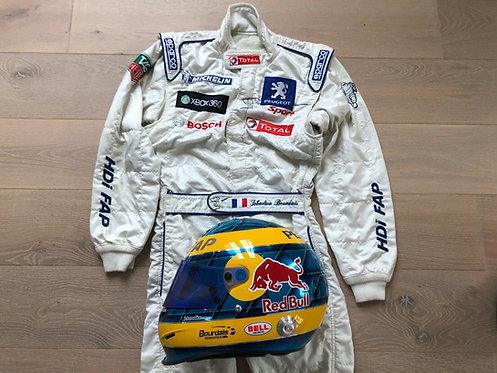 Set Helmet Replica + Suit Race - Sebastien Bourdais - Peugeot 908
