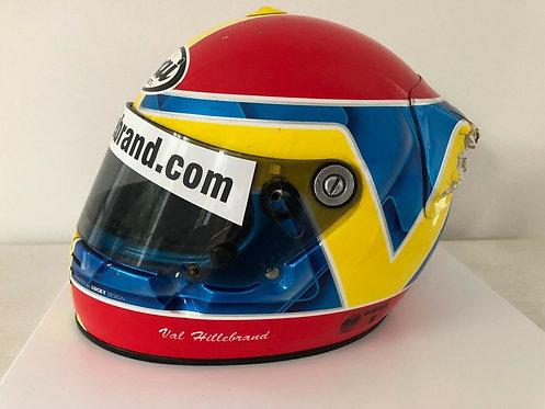 Race used helmet - Val Hillebrand - Arai