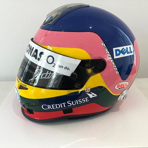 Race used helmet - Jacques Villeneuve - Signed - Bmw Sauber F1 2006