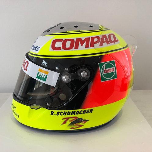 Helmet Testing used - Ralf Schumacher - Williams BMW f1 - Schubert