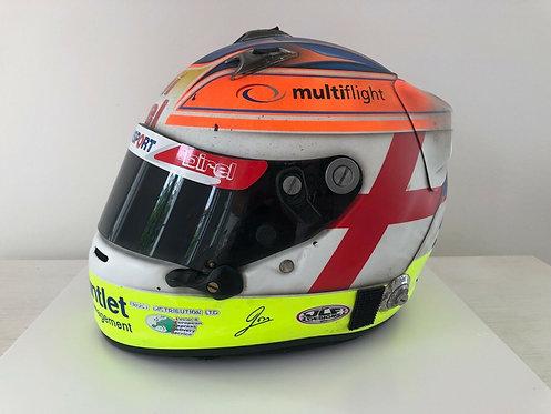Helmet original race used - Jon Lancaster - Signed - World Series - Arai GP6 RC