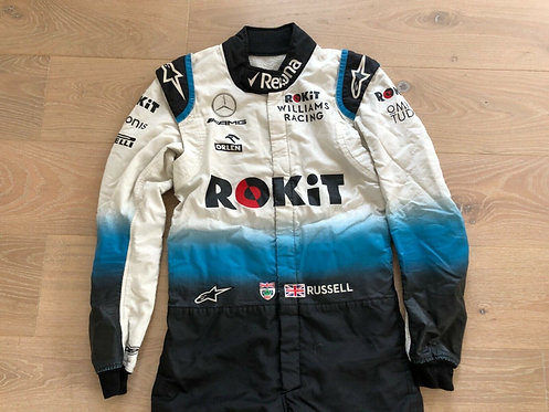 Original Suit Race Used - Georges Russell - Williams F1 Mercedes 2019
