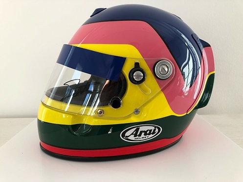 Helmet replica : Jacques Villeneuve - Williams F1 - Testig n- Arai GP3 - Signed