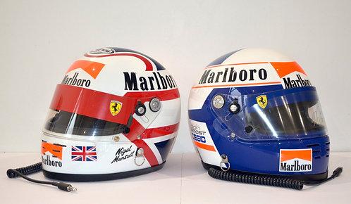 Set Helmet Replica Ferrari F1 !! Alain Prost / Nigel Mansell - 1990 - Arai