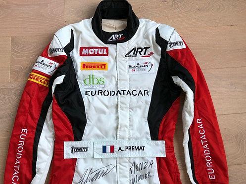 Suit race used signed - Alexandre premat - Blancpain endurance - Monza victory