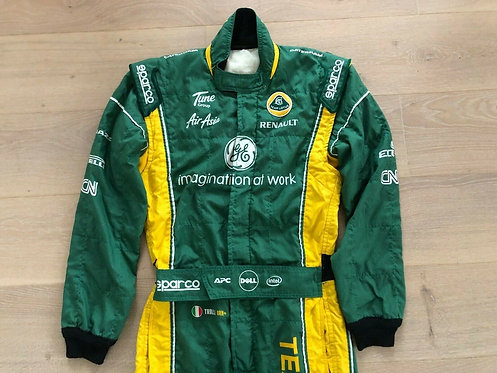 Original Race used suit - Jarno Trulli - Caterham Lotus Renault F1 - 2011