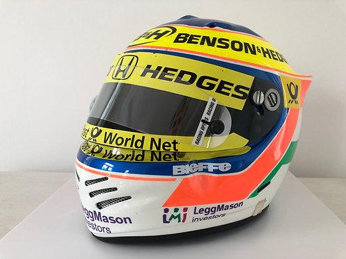 Race used helmet - Jarno Trulli - Jordan F1 2001 - Signed