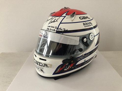 Race used helmet - Graham Rahal - Sebring 2010 / Corvette - Testing Indy Car
