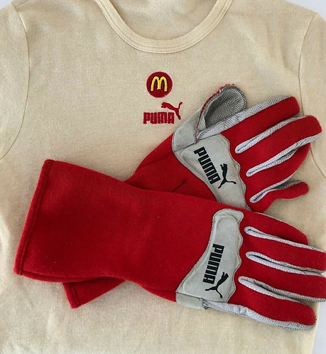 Race Gloves Sébastien Bourdais Indy Newman Haas Signed - Puma