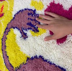 Close up of rug, ME MANGAV TUT