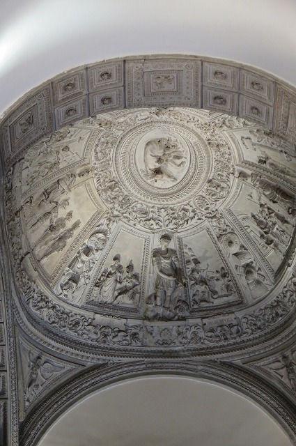 05コンセルヴァトーリ宮のしっくい仕上げのアーチ形天井Ⅰ.jpg