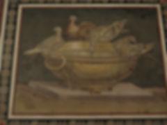 88「鳩のモザイク」ハドリアヌス帝の別荘ヴィラ・アドリアーナの床(2世紀初).j