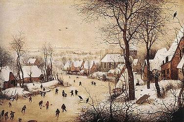 りピーテル・ブリューゲル(父)「鳥わなのある冬景色」ベルギー王立美術館イタリア版