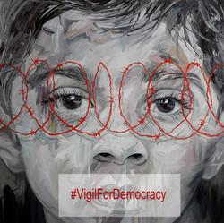 Our #VigilForDemocracy protest caravan h
