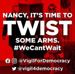 OUR BILLBOARD TRUCK SAYS__#VigilforDemoc