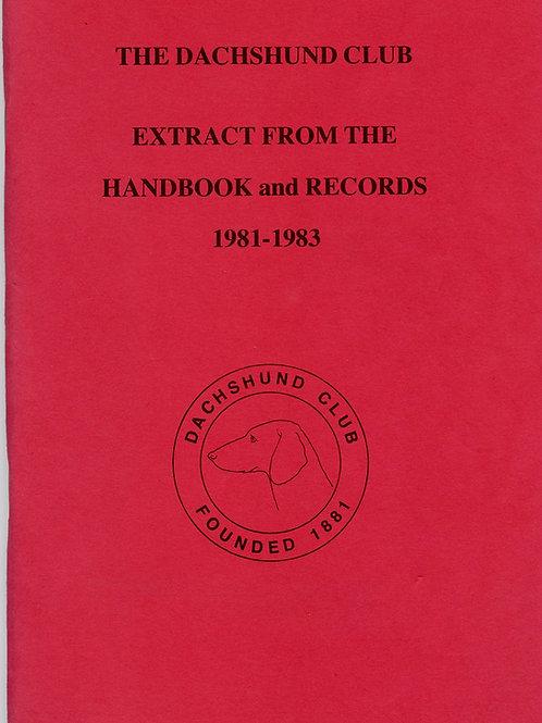 handbook extract 1981-1983