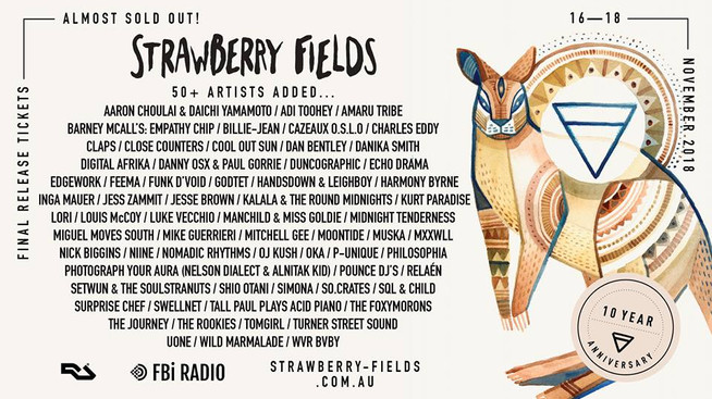 Strawberry Fields | Dates: 16 - 18 November 2018