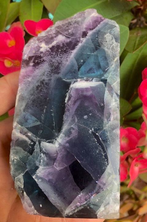 Natural Fluorite Standing Slab