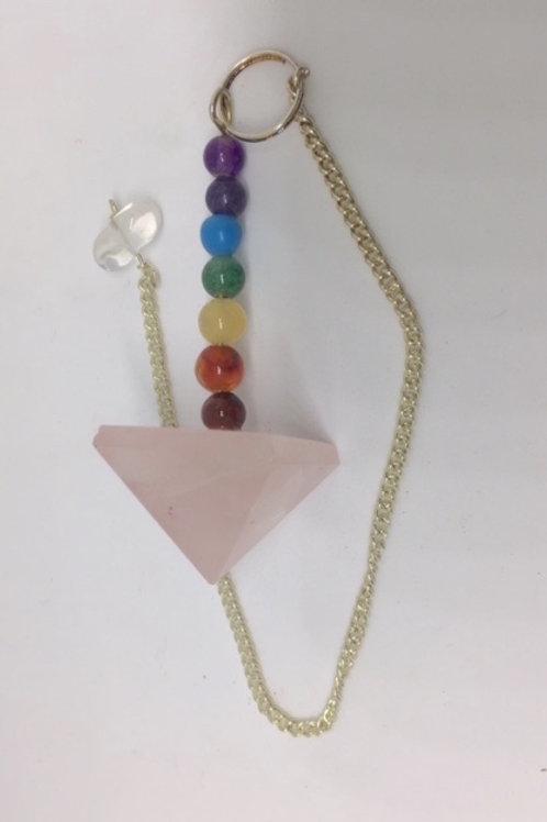 Rose Quartz chakra Pyramid pendulum