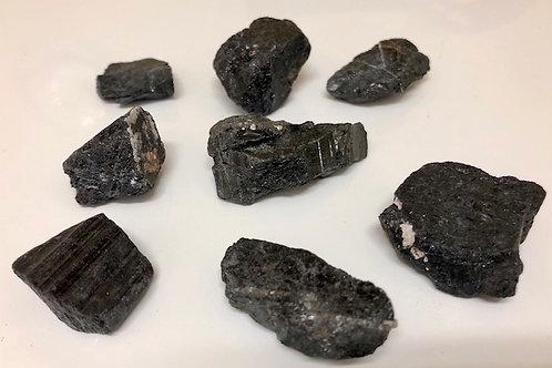 Black tourmaline raw pieces