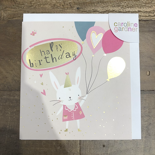 Happy Birthday, Bunny & Balloons Cards