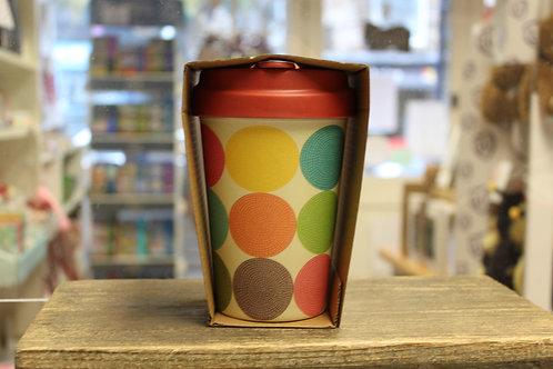 Bright Circles, Bamboo Travel Mug