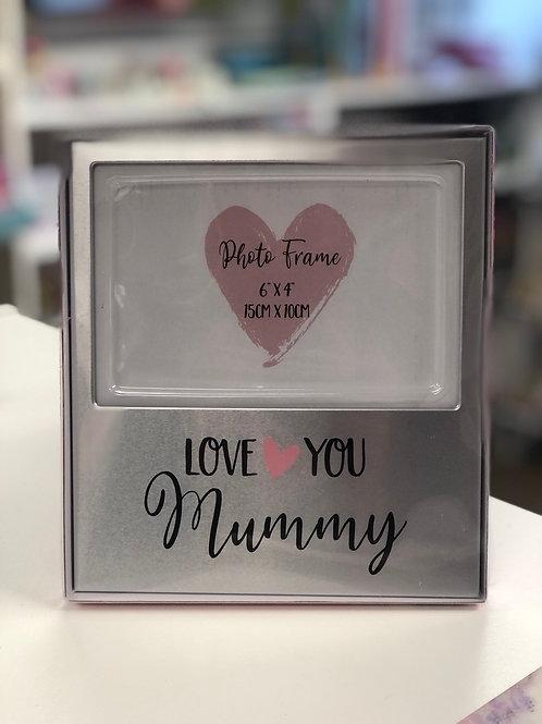 Love you Mummy, Silver Photo Frame