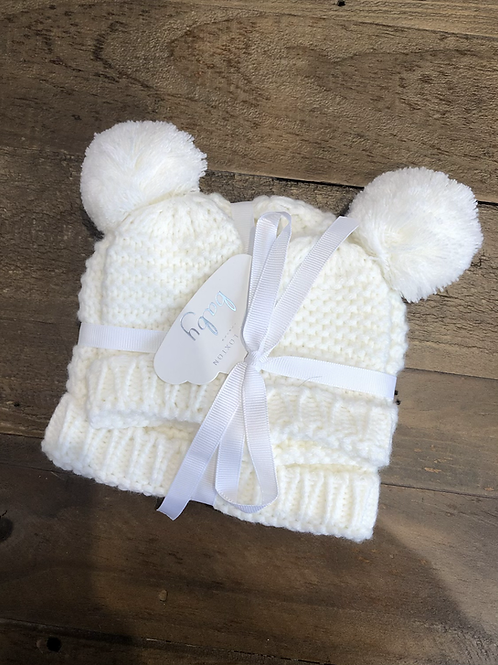 Baby Hat & Mittens Set (0-6 Months)